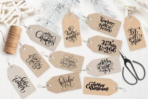 圣诞节礼物标签矢量设计图形素材 Christmas Gift Tags插图3