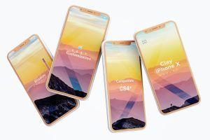 iPhone X智能手机APP设计演示黏土样机模板 Clay iPhone X Mockup 06插图3