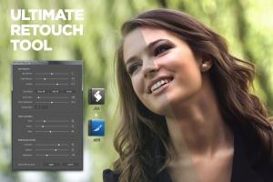 终极人像照片美容工具PS笔刷/脚本 Ultimate Retouch Tool Photoshop Script CS3+插图1