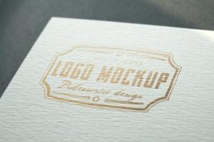 烫印烫金Logo样机模板 Logo Mock-Up插图3