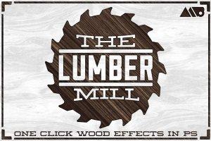 20款惊人的高分辨率木材纹理 The Lumber Mill – Photoshop Wood Kit插图1