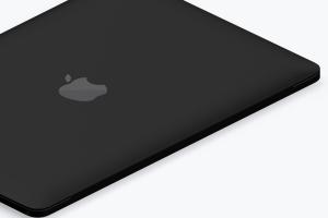 MacBook苹果笔记本电脑等距左视图黏土样机03 Clay MacBook Mockup, Isometric Left View 03插图2