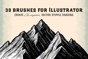 点画法艺术创作效果PS&AI绘画笔刷套装 Stipple Brush Set for Photoshop and Illustrator插图4