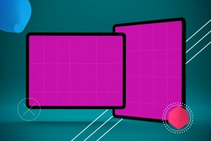 iPad Pro平板电脑UI设计屏幕预览效果图样机 Abstract iPad Pro Mockup插图10