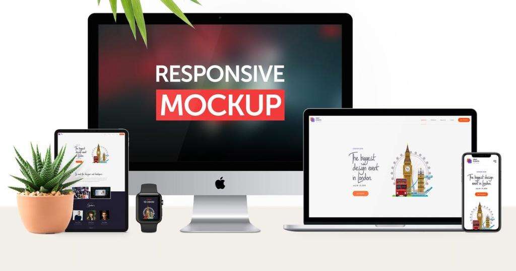 响应式网站设计效果图多设备预览样机v2 Responsive Device Mockup 2.0插图