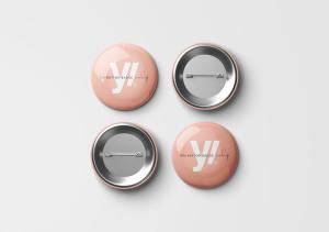 别针徽章胸章定做设计样机模板 Pin Button Badge Mockup插图6