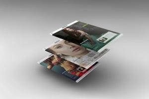 3D平板电脑屏幕网站设计演示样机 3D Tablet Screen Mockups插图7