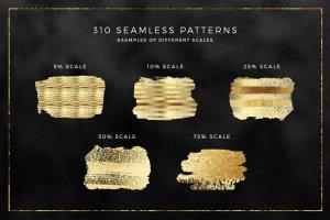 300+金光闪闪金箔图层样式 300+ Gold Glitter Foil Styles插图4