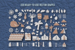 可爱剪纸艺术插画AI设计素材 Paper Kingdom Illustrator Graphic Styles插图13