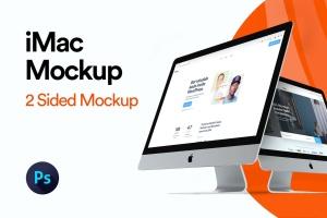 2019款iMac一体机电脑多角度样机模板 iMac 2019 Angle Mockup插图1