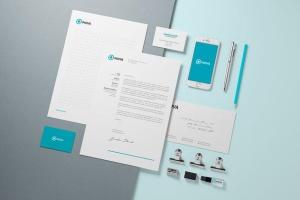 企业品牌VI设计办公文具样机模板v1 Branding / Identity Mock-up插图4
