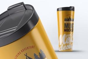 旅行水杯外观设计样机模板 Travel Tumbler Mug Mock-Up插图2