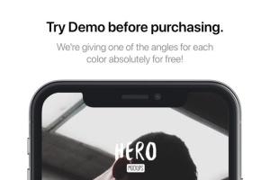 高质量黑色iPhone X设备样机模板 HERO Phone X Mockups插图7