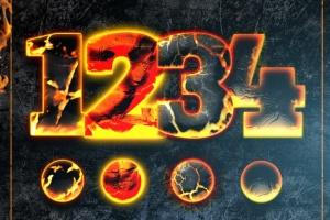 震撼熔岩火焰特效PS图层样式 Hot Lava & Fire Photoshop Layer Styles插图4