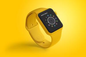 Apple Watch智能手表屏幕预览图样机01 Clay Apple Watch Mockup 01插图2