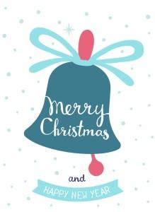 圣诞节&新年庆祝主题简易矢量手绘图形素材 Collection of Christmas cards插图6