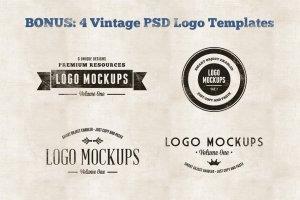 复古风格Logo样机模板v1 Vintage Logo Mockups Volume 1插图5