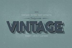 14个复古风格立体特效PS字体样式 14 Vintage Retro Text Effects插图7