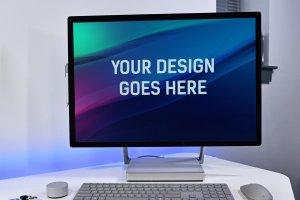 微软studio工作站样机展示模型mockups插图4