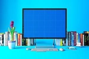 办公室场景微软一体机Surface样机模板合集 Surface in Studio插图9