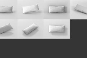 时尚多彩长矩形沙发卧室枕头样机模板 Pillow Mockup – Long Rectangle插图11