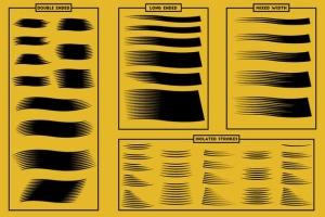 现代木刻设计风格AI笔刷 Modern Woodcut Brushes插图10