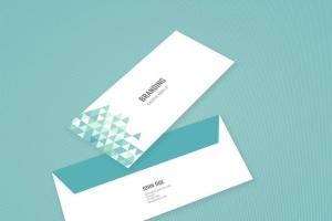 企业品牌办公用品样机模板 Branding Identity Mock Up – Teal Tirangles插图8