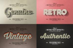 经典复古文本图层样式v1 Vintage Text Effects Vol.1插图4