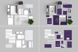 10个时尚高端办公品牌文具样机VI展示模型mockups插图4