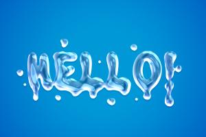 好玩逼真的液态文字模板 Free Liquid Text Styles插图4