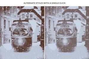 一键生成怀旧老照片效果PSD分层模板 Worn Press Photoshop Effects Kit插图4