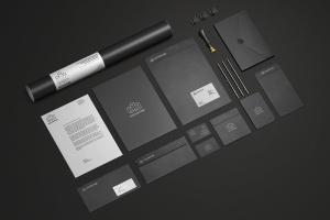 办公文具品牌展示样机模板v1 Branding / Stationery Mock-Up Vol.1插图1