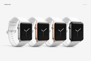 一流设计素材网下午茶:高品质的Apple Watch表带展示模型Mockup下载 1.27 GB[psd]插图5