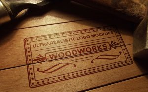 质感超级写实的经典品牌LOGO设计展示模型Mockups[PSD]插图1