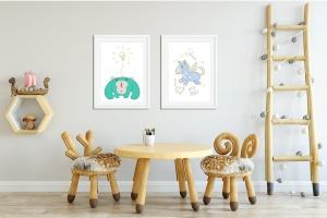 卡通动物手绘图案装饰儿童主题设计素材 Character Animal Decorative for Kids插图2