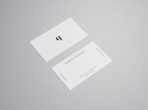商业/个人名片设计样机模板插图8