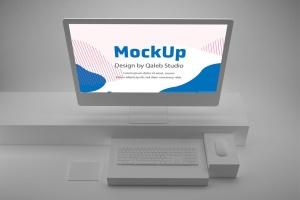 极简设计风格iMac一体机电脑样机v2 Clean iMac Pro V.2插图4