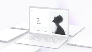 白色超极本笔记本电脑样机模板 White Laptop Mockup插图14