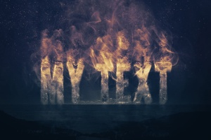 大气烟雾萦绕字体特效PSD分层模板 Smoke Logo Text Effect插图5