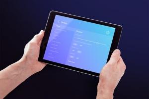 平板电脑APP&网站设计演示样机模板 Isolated Tablet Mock-up插图7