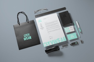 企业品牌VI设计办公文具样机模板v2 Corporate Branding / Identity Mock-up插图1
