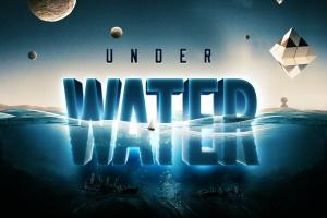 炫酷3D立体水面漂浮文字样式PSD分层模板 Underwater Text Logo Effect插图5