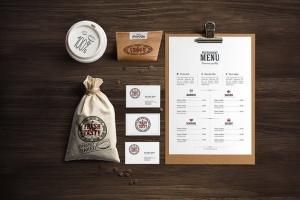 高端美食餐厅品牌展示样机 Restaurant Food Mockup插图5