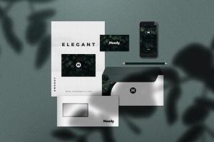 8个企业品牌VI标识设计预览办公用品等距场景样机模板 8 Identity Stationery Mockups插图3
