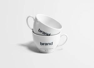 茶杯瓷杯外观设计效果图样机 Tea Cups Mockup插图2