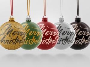闪闪发光圣诞装饰球样机模板 Glitter Christmas Ball Mockup插图13