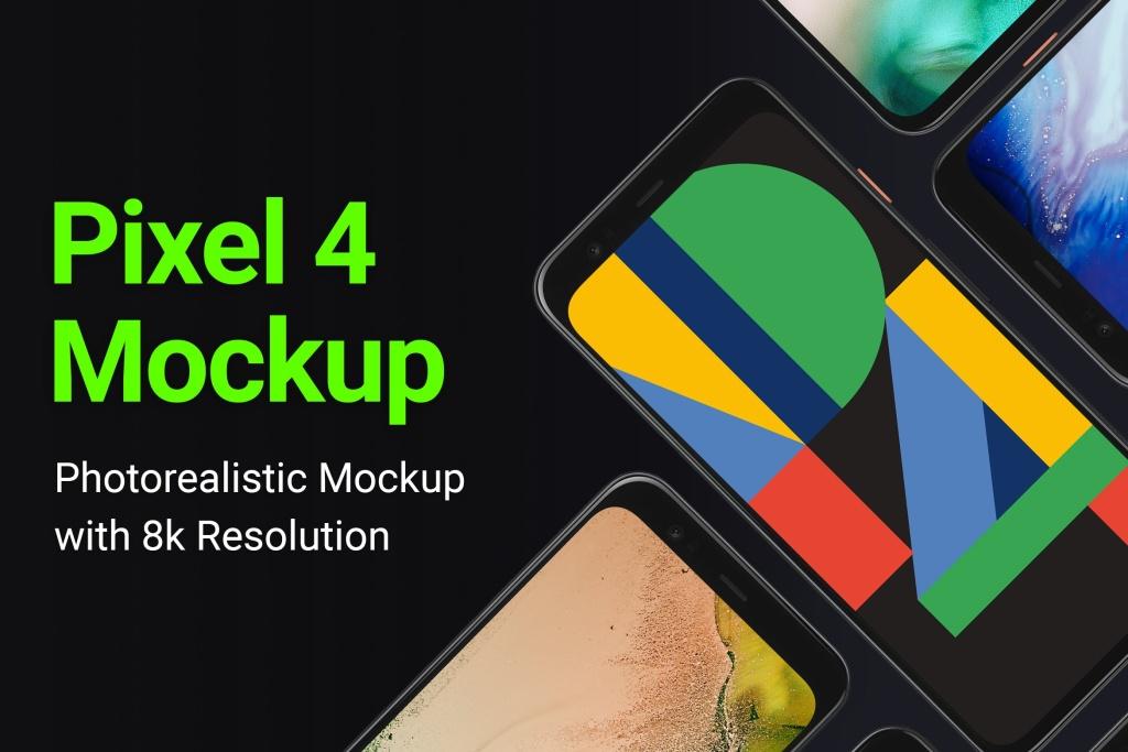 谷歌手机Google Pixel 4样机模板 Google Pixel 4 Mockup插图