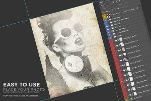 复古怀旧风格照片效果处理PSD图层 Vintage Photo Creator插图12