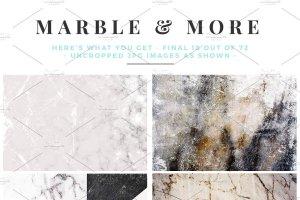 大理石&烫金锡纸纹理 Marble & More Backgrounds插图9