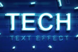 炫酷平滑3D高科技效果PS字体样式 TECHNOLOGY TEXT EFFECT插图1
